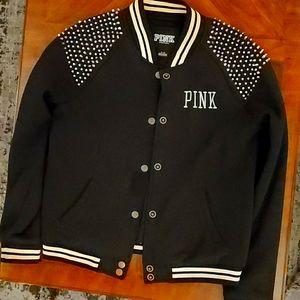 Studded Varsity Style Jacket
